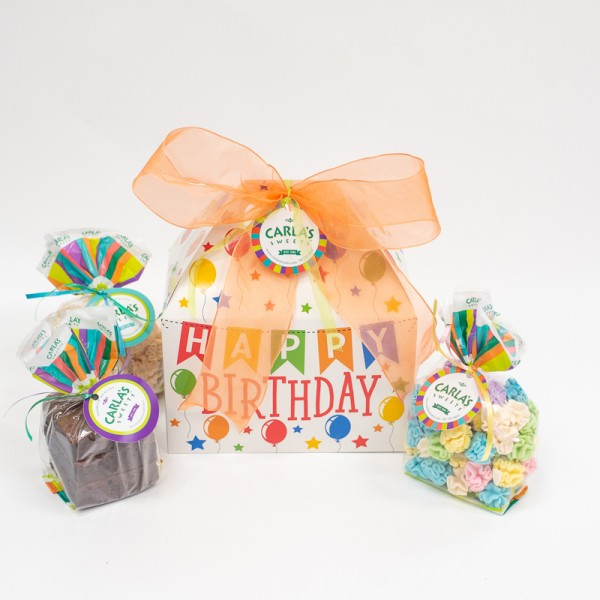 Birthday Banner gable Boxes with 2 or 3 Regular Products