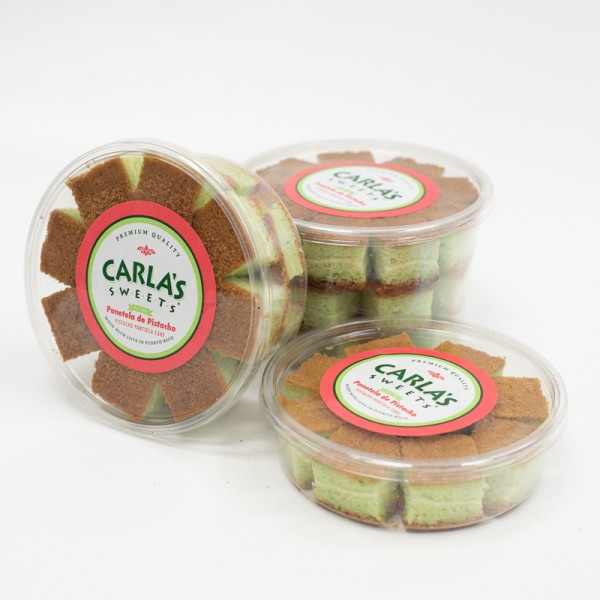 Panetela with Pistacho in a Plastic Tub